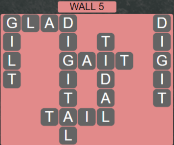 Wordscapes Stone Wall 5 - Level 3781 Answers