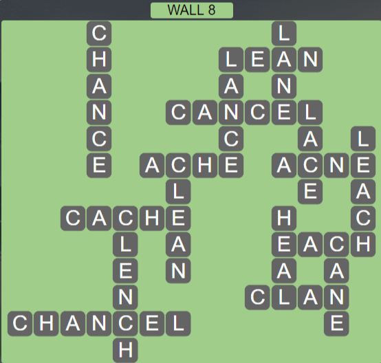 Wordscapes Stone Wall 8 - Level 3784 Answers