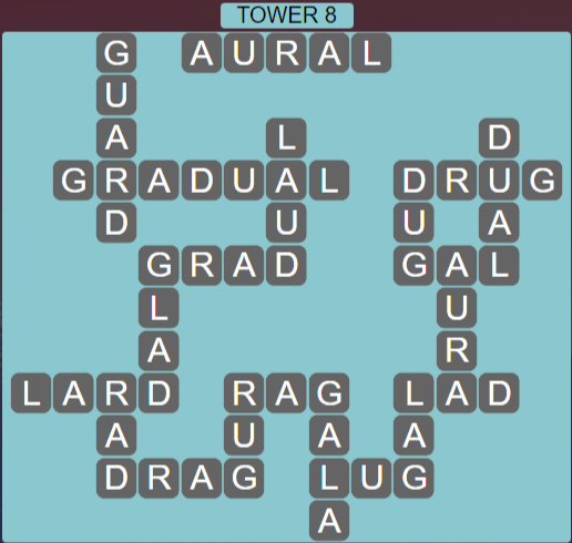 Wordscapes Stone Tower 8 - Level 3816 Answers