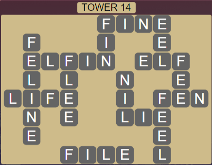 Wordscapes Stone Tower 14 - Level 3822 Answers