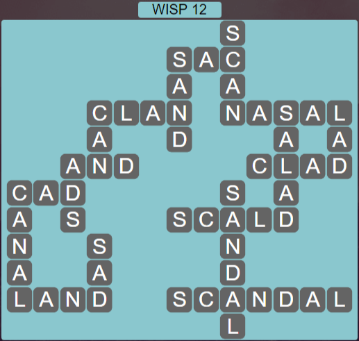 Wordscapes Stone Wisp 12 - Level 3836 Answers