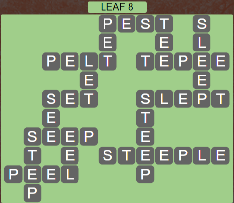 Wordscapes Green Leaf 8 - Level 3864 Answers