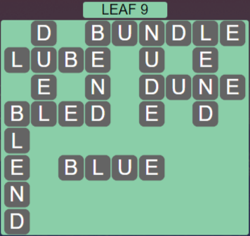 Wordscapes Green Leaf 9 - Level 3865 Answers