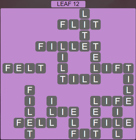 Wordscapes Green Leaf 12 - Level 3868 Answers