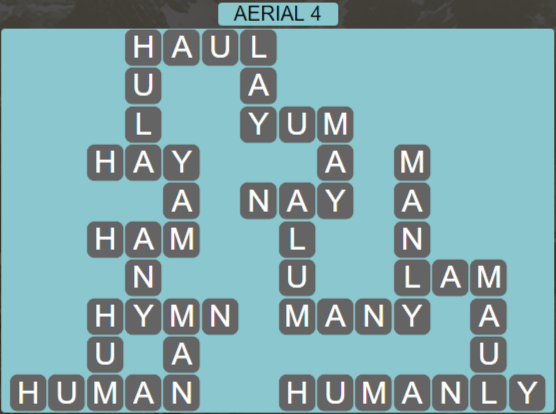 Wordscapes Green Aerial 4 - Level 3876 Answers
