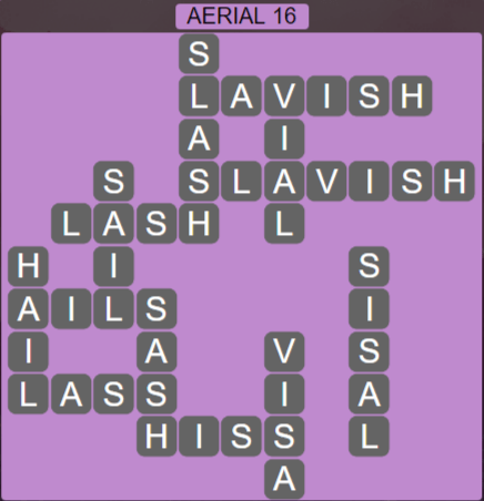 Wordscapes Green Aerial 16 - Level 3888 Answers