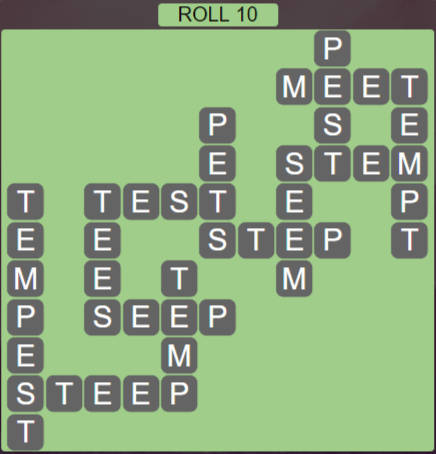 Wordscapes Green Roll 10 - Level 3914 Answers