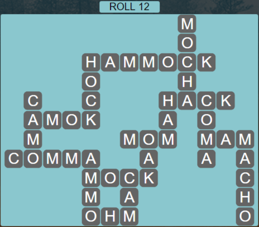 Wordscapes Green Roll 12 - Level 3916 Answers