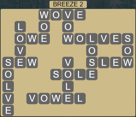 Wordscapes Wind Breeze 2 - Level 4002 Answers