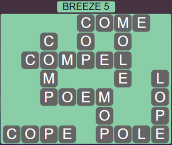Wordscapes Wind Breeze 5 - Level 4005 Answers