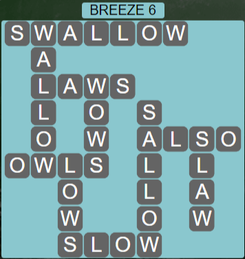 Wordscapes Wind Breeze 6 - Level 4006 Answers