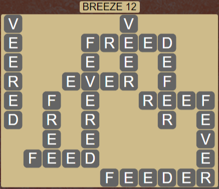 Wordscapes Wind Breeze 12 - Level 4012 Answers