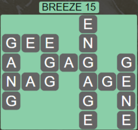 Wordscapes Wind Breeze 15 - Level 4015 Answers