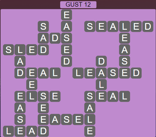 Wordscapes Wind Gust 12 - Level 4028 Answers