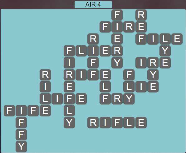 Wordscapes Wind Air 4 - Level 4036 Answers