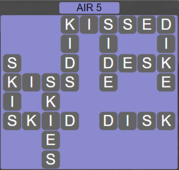 Wordscapes Wind Air 5 - Level 4037 Answers