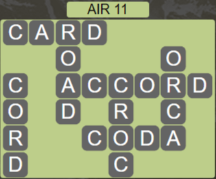 Wordscapes Wind Air 11 - Level 4043 Answers