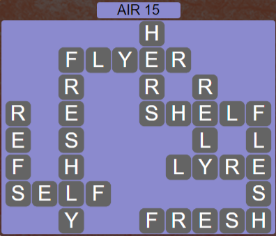 Wordscapes Wind Air 15 - Level 4047 Answers
