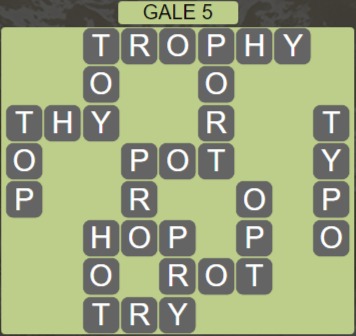 Wordscapes Wind Gale 5 - Level 4053 Answers