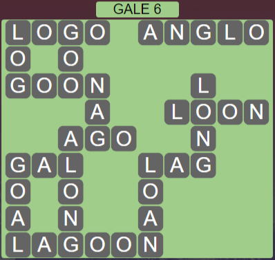 Wordscapes Wind Gale 6 - Level 4054 Answers