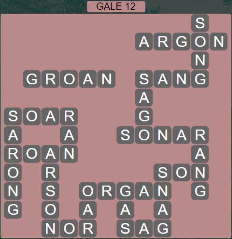 Wordscapes Wind Gale 12 - Level 4060 Answers