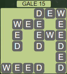 Wordscapes Wind Gale 15 - Level 4063 Answers