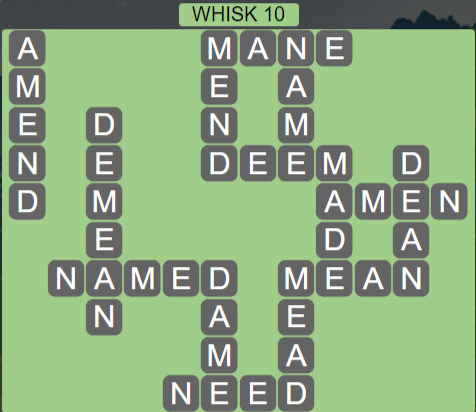 Wordscapes Wind Whisk 10 - Level 4074 Answers