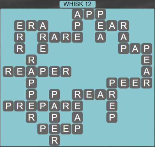 Wordscapes Wind Whisk 12 - Level 4076 Answers