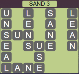 Wordscapes Shore Sand 3 - Level 4083 Answers