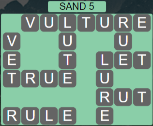 Wordscapes Shore Sand 5 - Level 4085 Answers