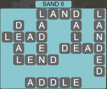 Wordscapes Shore Sand 6 - Level 4086 Answers