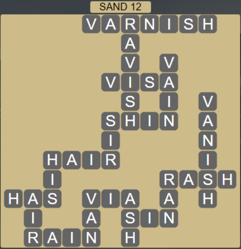 Wordscapes Shore Sand 12 - Level 4092 Answers