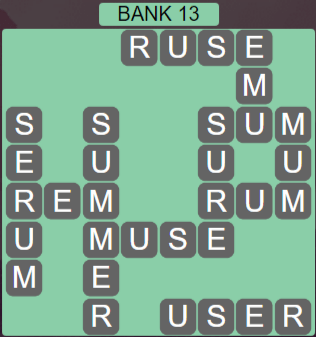 Wordscapes Shore Bank 13 - Level 4125 Answers
