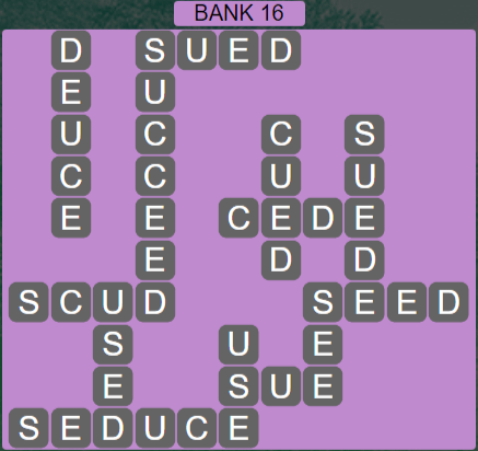 Wordscapes Shore Bank 16 - Level 4128 Answers