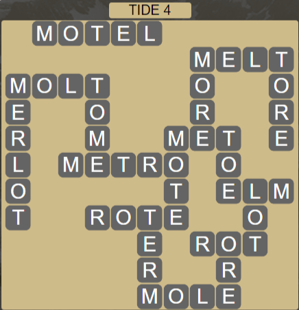 Wordscapes Shore Tide 4 - Level 4132 Answers