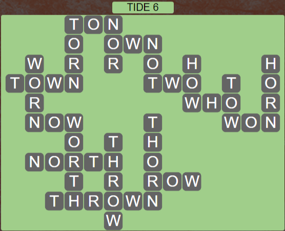 Wordscapes Shore Tide 6 - Level 4134 Answers