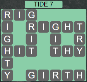 Wordscapes Shore Tide 7 - Level 4135 Answers