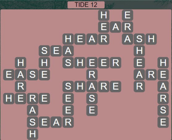 Wordscapes Shore Tide 12 - Level 4140 Answers