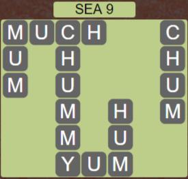 Wordscapes Shore Sea 9 - Level 4153 Answers