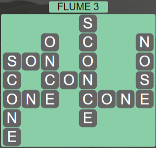 Wordscapes Ravine Flume 3 - Level 4195 Answers