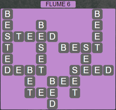 Wordscapes Ravine Flume 6 - Level 4198 Answers