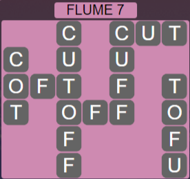 Wordscapes Ravine Flume 7 - Level 4199 Answers