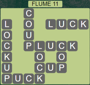 Wordscapes Ravine Flume 11 - Level 4203 Answers