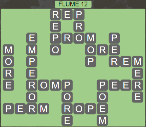 Wordscapes Ravine Flume 12 - Level 4204 Answers