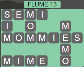 Wordscapes Ravine Flume 13 - Level 4205 Answers