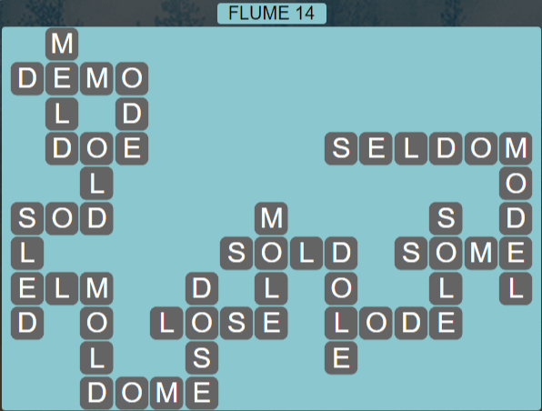 Wordscapes Ravine Flume 14 - Level 4206 Answers