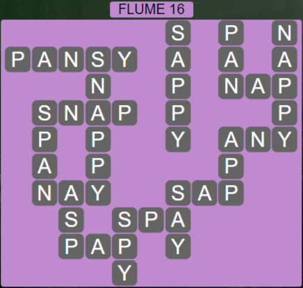 Wordscapes Ravine Flume 16 - Level 4208 Answers