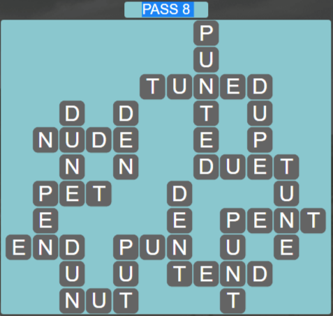 Wordscapes Ravine Pass 8 - Level 4216 Answers