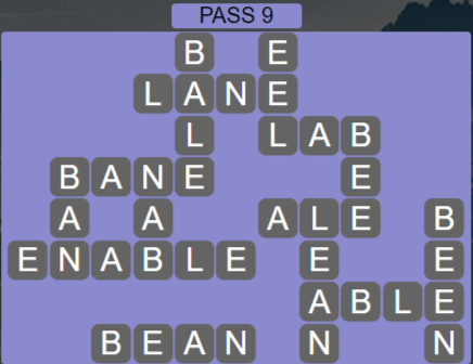Wordscapes Ravine Pass 9 - Level 4217 Answers