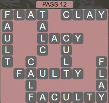 Wordscapes Ravine Pass 12 - Level 4220 Answers